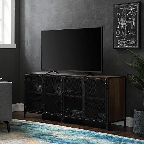 """WE Furniture AZ60SOI4DRO TV Stand, 60"""", Rustic Oak"""