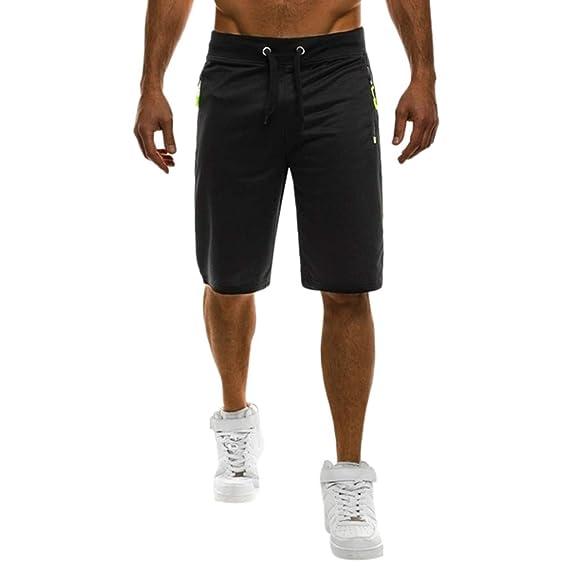 Fashion Summer Men/'s Slim Fit Casual Cotton Shorts Solid Color Short Pants