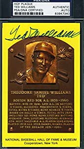 TED WILLIAMS SIGNED GOLD HOF PLAQUE PSA/DNA COA AUTHENTIC AUTOGRAPH
