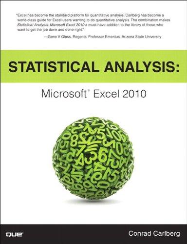 Download Statistical Analysis: Microsoft Excel 2010 Pdf