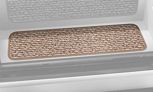 Prest-O-Fit 5-0092 Decorian Step Huggers For RV Landings Butter Pecan Brown 6 In. x 23.5 In. by Prest-O-Fit