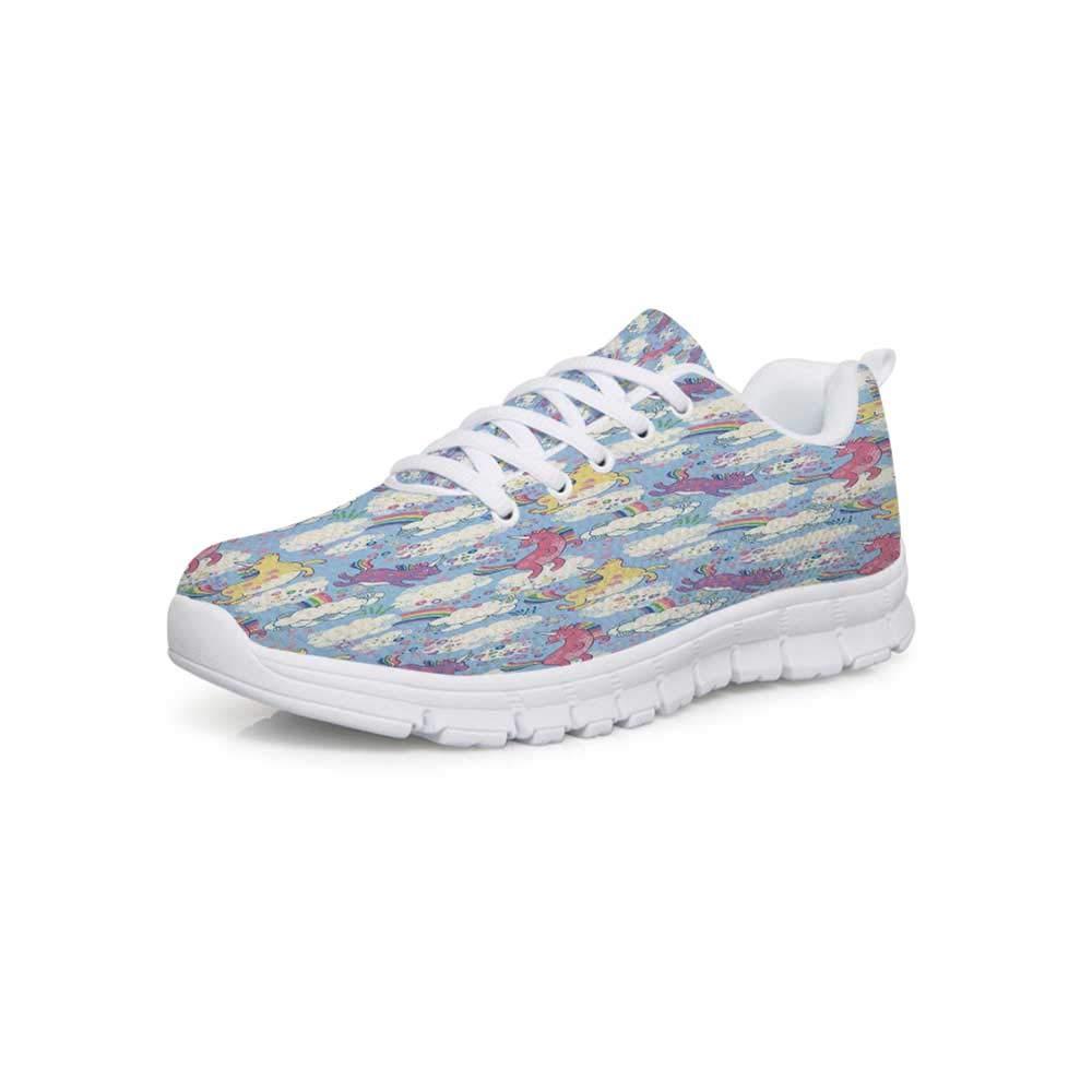 YOLIYANA Quatrefoil Lightweight Walking ShoesPersian Moroccan Orient Style in Oriental Wavy Shapes Art Print Sneakers for Girls Womens,US 5