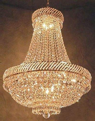 French Empire Crystal Chandelier Chandeliers Lighting H34 X W27