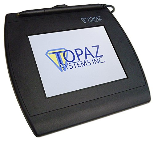 Topaz T-LBK57GC-BBSB-R SigGem Color 5.7 Signature Capture Pad, Dual Serial/Virtual Serial via USB