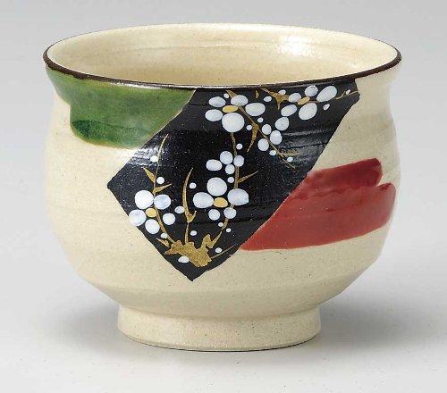 Japanese Yunomi Tea Cup Plum KUTANI YAKI(ware)