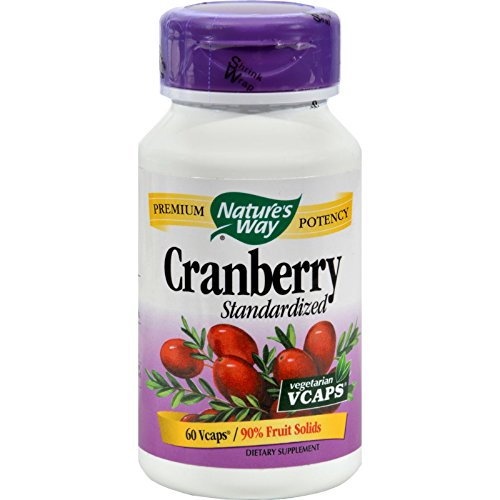Nature's Way Cranberry Standardized - 60 Vegetarian Capsules - 90% Fruit (Natures Way Standardized Cranberry)