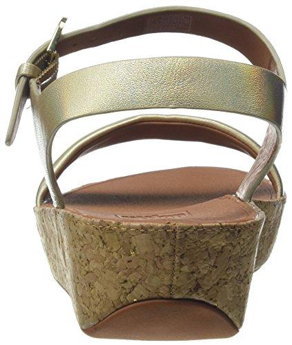 Punta iridescent Oro Iridescent 536 Fitflop Bon Aperta Ii gold Sandali Sandals Back strap Donna wT0XvSq