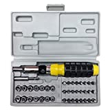 Screwdriver Bits Set, 41pcs Portable Manual Magnetic Screwdriver Bits and Sockets Set with Case for Repairing Phones Computers Toys and Other Electronic Products