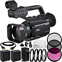 Sony PXW-Z90V 4K HDR XDCAM with Fast Hybrid AF 8PC Accessory Bundle – Includes 2x Replacement Batteries + AC/DC Rapid Home & Travel Charger + MORE