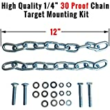 ShootingTargets7 Chain and Rubber Target Hanging Straps With Hardware Kit for Mounting AR500 Steel Shooting Targets | Use With Most Target Stands