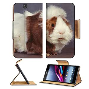 Animals Black Eyes Fluffy Guinea Pigs Sony Xperia Z Ultra Flip Case Stand Magnetic Cover Open Ports Customized Made to Order Support Ready Premium Deluxe Pu Leather 7 1/4 Inch (185mm) X 3 15/16 Inch (100mm) X 9/16 Inch (14mm) MSD Sony Xperia Z Ultra cover wangjiang maoyi