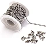 Tiparts 30 Feet Stainless Steel Ball Chains