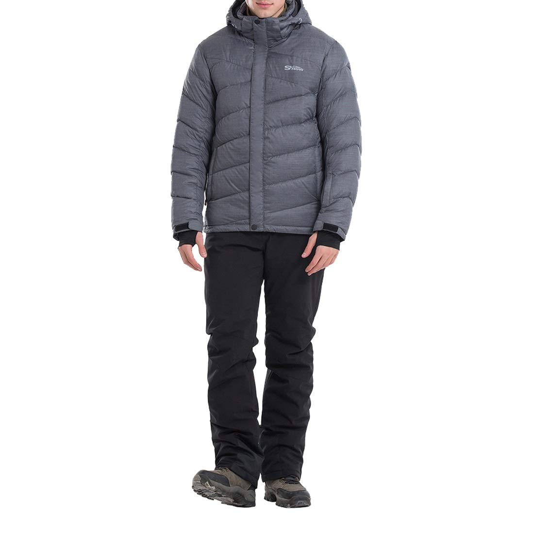 ジャケットスキースーツメンズシックウォーム通気性防風防水 (Color : グレー, サイズ : XXL) グレー XX-Large