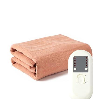 Almohadilla eléctrica,Manta eléctrica Termostato Seguridad] Impermeable] Estudiante Dormitorio Uso doméstico Frazada eléctrica