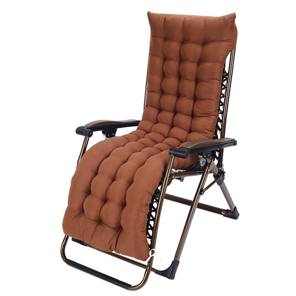 ZGYQGOO Lounge Chaise Cushion, Terrasse Liegestuhl Kissen, Sonnenliege Matratze, für den Garten Outdoor Indoor Sofa Tatami Car Bench (nur Kissen) -braun 160x57cm (63x22inch)