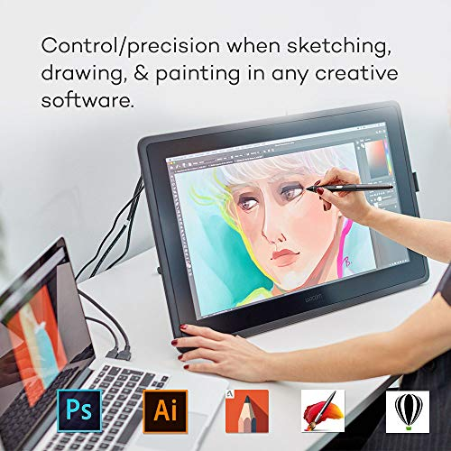 Wacom Cintiq 22 Drawing Tablet with HD Screen, Graphic Monitor, 8192 Pressure-Levels (DTK2260K0A) 2019 Version, Medium