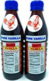 Danncy Pure Dark Mexican Vanilla Extract 12 Ounce Bottles Pack of 2