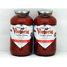 Victoria White Linen Marinara Sauce Twin pack ( 2- 40oz bottles )