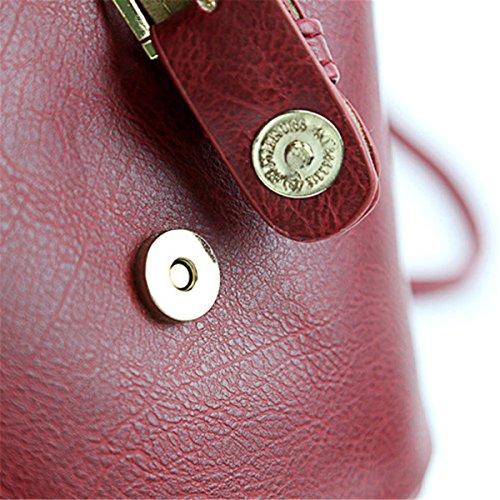 Mujer Change JOSEKO Bolsa Cruzado del Smartphone Bolsa Little de Bolso PU Bag Pequeño Cuerpo para de iPhone teléfono Cubo Rosa Ocio de wItatxqX4n