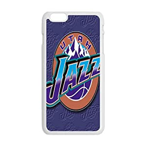 Utah Jazz NBA White Phone Case for iPhone plus 6 Case