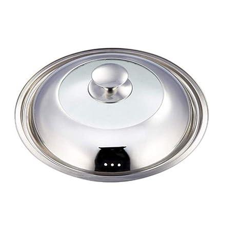 BHDYHM Tapa la cacerola cocina eléctrica olla de acero ...