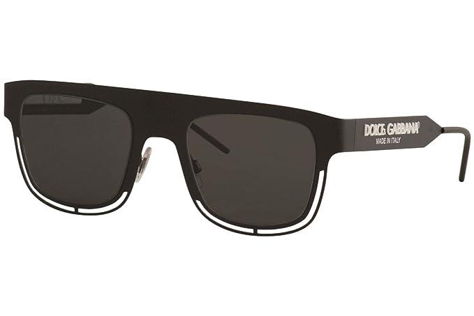 Dolce & Gabbana 0DG2232 Gafas de sol, Matte Black, 50 para ...