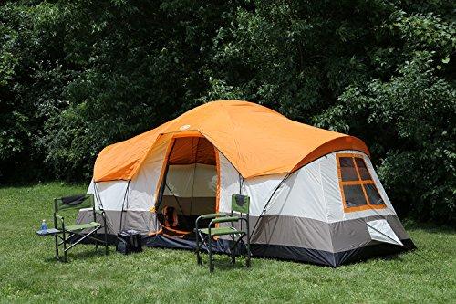 Tahoe Gear Olympia 10 Person 3 Season Tent, Orange/Ivory | TGT-OLYMPIA-10-B