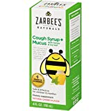 Zarbee's Naturals Children's Cough Syrup + Mucus with Dark Honey, Natural Cherry Flavor, 4 Fl. Ounces