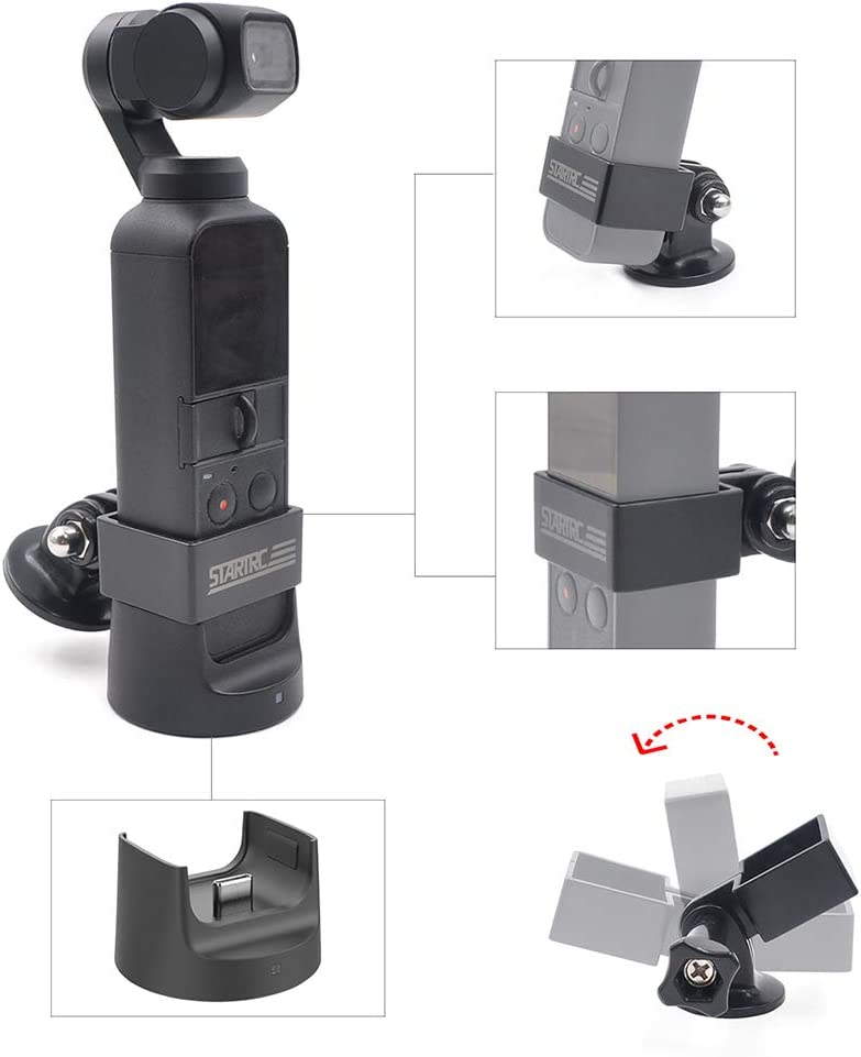 GoolRC STARTRC Camera Mount Holder Adapter Kit for DJI OSMO Pocket Action Camera Accessories