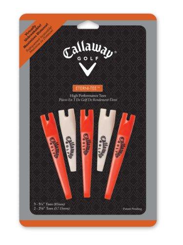 Callaway Eterni-Tees 5-Pack Combos (Orange/White)