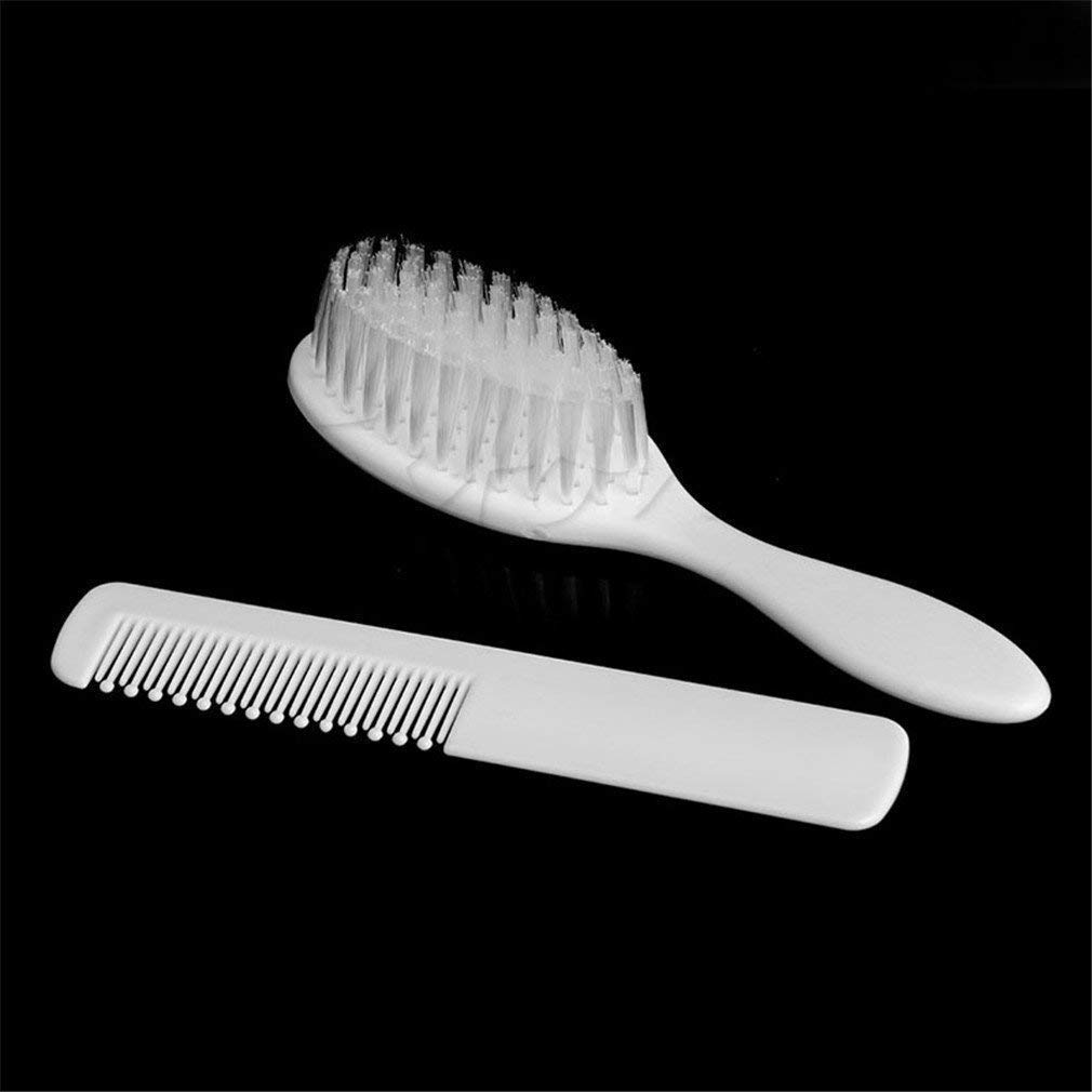 White Set of 2 Op.h Baby Kids Hair Brush Comb Grooming Tool Soft and Safety