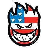 Spitfire Wheels Flaghead Fireball Skateboard Sticker - USA / US Flag skate board flame fire skate skateboarding sk8 stars and stripes by Spitfire