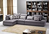 Contemporary Upholstered Sofa Chaise Sleeper