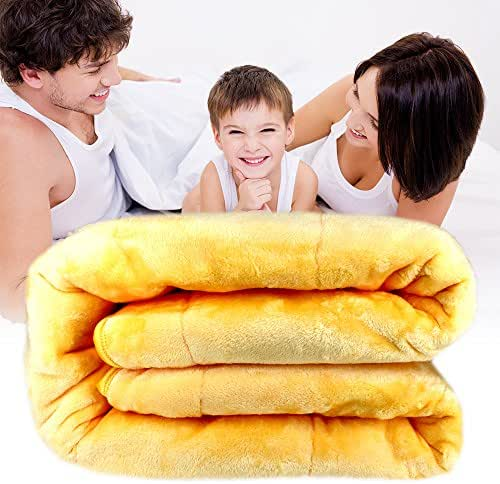 Holding FIR Light-Heat Blankets Electric Light Heated Bed Blanket Soft Velet and Graphene Material- Queen Size