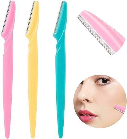 QAZXSW 12 Pcs Maquinillas de Afeitar Cejas Cuchilla de Ceja Afeitadora Depilación Facial Cejas Recortadora Adecuado Remover Pelo Facial de Mujeres y Hombres: Amazon.es: Hogar