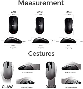 74cbfa92a41 BenQ ZOWIE ZA13 Wired Ambidextrous Gaming Mouse for Esports, Black, Small.  Loading images.