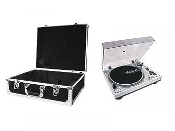 Omnitronic Juego DD de 2550 Tocadiscos USB Sil + Case negro ...