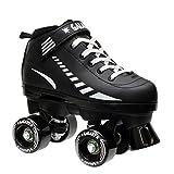 Epic Skates Epic Black Galaxy Elite Quad Roller Skates Kids 5
