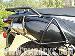 PMR side utility racks are great for strapping down your soft luggage and keeping it off the rear plastics and exhaust pipe, while adding plenty of new tie down points for any luggage you have on your seat or tail section. They also add an en...