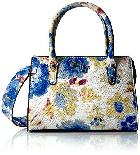 GUESS Loree Mini Satchel Blue Floral