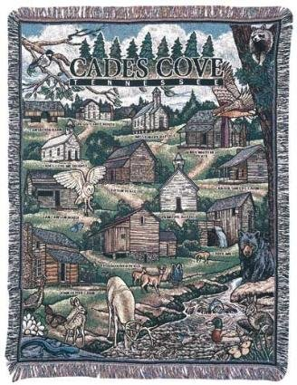 (Simply Home Cades Cove Tennessee Tapestry Throw Blanket 50