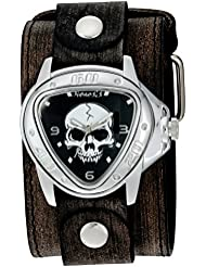 Nemesis Triangle Heavy Duty Quartz Stainless Steel and Leather  Watch, Color:Black (Model: FLBB936K)