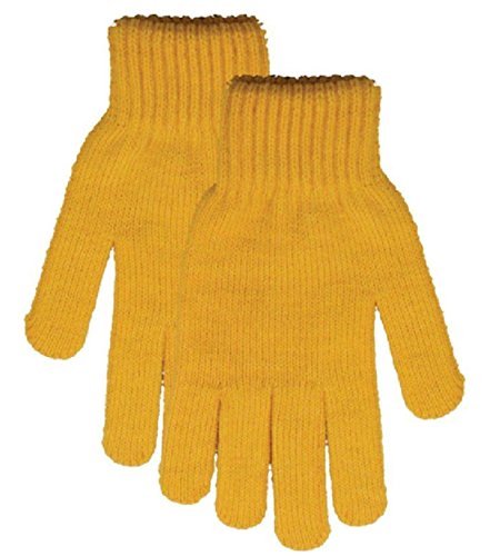 Yellow Gloves (KIQ Women's Stretchy Knit Gloves & Mittens Yellow)