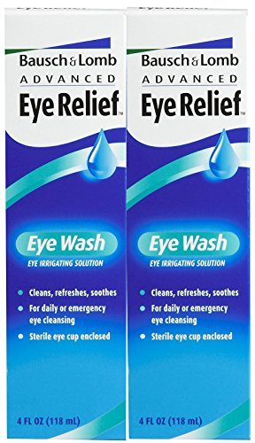 Bausch & Lomb Advanced Eye Relief Eye Wash-4 oz, 2 pack ()
