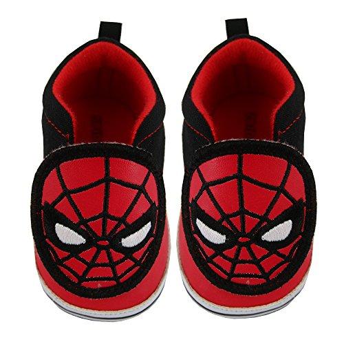 Marvel Baby Boys Avengers Spiderman Character Low Top Denim Sneakers, 3-12 Months