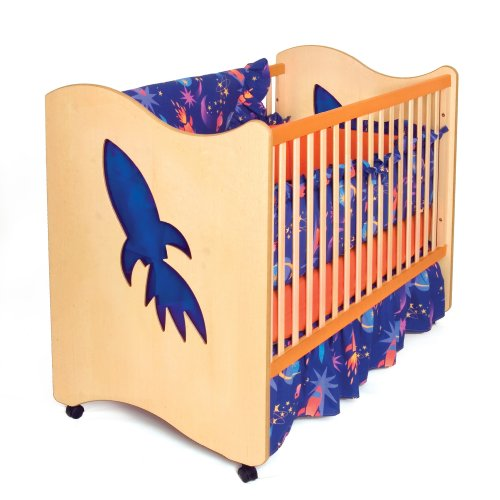Star Rocket 4 Piece Crib - Room Magic 3 Piece Crib Set, Star Rocket