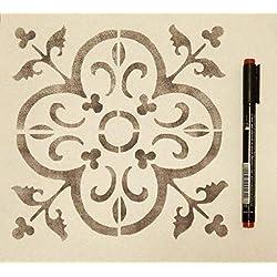 Floor Tile - Handmade Stencil