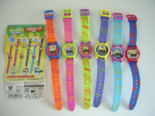 SpongeBob SquarePants Wrist Watch all six digital arms and Kei all six 1 A 2 B 3 C 4 D 5 E 6 F mama bag!