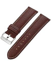 Hadley-Roma Men's MSM906RB-240 24-mm Brown Genuine Leather Watch Strap