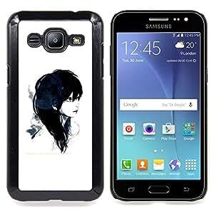 "Qstar Arte & diseño plástico duro Fundas Cover Cubre Hard Case Cover para Samsung Galaxy J2 / J200 (Emo Girl 2"")"
